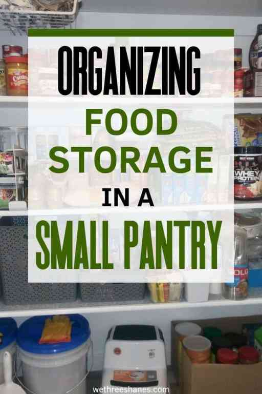It's easier than you think to start food storage even if you don't have much room for storage. Learn how to get started today. | We Three Shanes