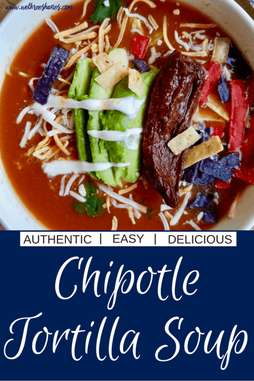 Super simple but delicious chipotle tortilla soup. This is the best tortilla soup I've ever had!