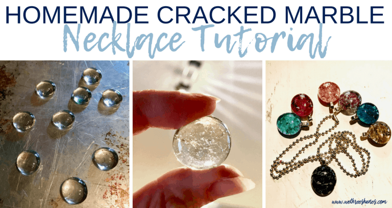 Homemade Cracked Marble Necklace Tutorial