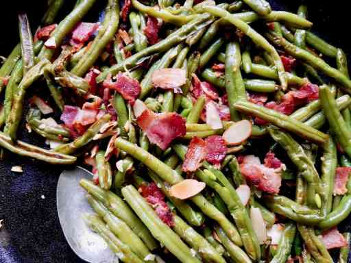Use frozen green beans to make this fast and delicious side dish. | We Three Shanes