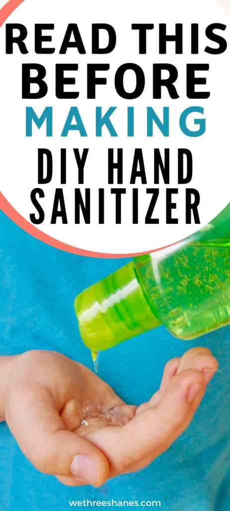 With stores running out of hand sanitizer many people are tuning to DIY hand sanitizer recipes. But are they really effective? Honestly, no! | We Three Shanes