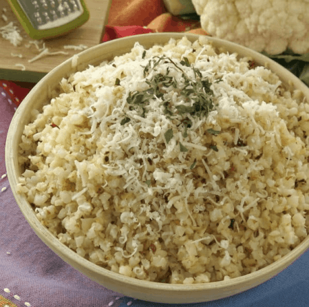 Frozen vegetables recipe using roasted cauliflower rice and parmesan cheese. Makes a delicious side dish. | We three Shanes