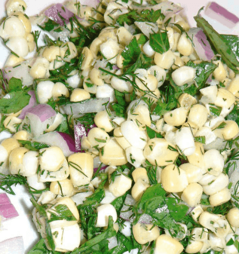 Corn Salad is a healthy recipe that gives frozen corn a fresh new taste. | We Three Shanes
