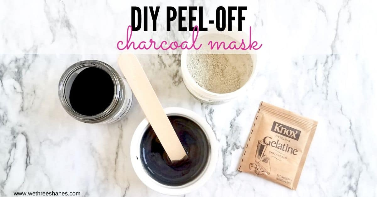 DIY Charcoal Peel-Off Mask Without Glue!