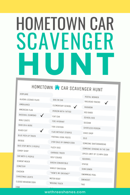 Car Scavenger Hunt Printables The Whole Family Will Love We Three Shanes