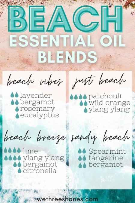 Missing the beach? Make your own beach essential oil blends to remind you of lazy summer days and a cool breeze on your skin. | We Three Shanes