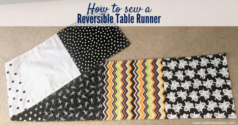 Easy Reversible Table Runner Using Fat Quarters