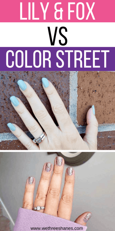 Not only will you get my honest review of Lily and Fox Nail Polish Wraps, I will also compare them to Color Street to see who comes out on top. Is Lily and Fox a great Color Street Alternative? Click the link to find out!   We Three Shanes