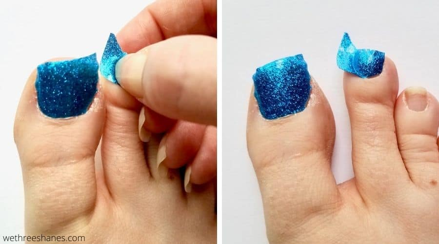 Get the most out of your Lily and Fox nail set with these tips and tricks. You can get 2 salon quality manicures and a pedicure at home for just $2.99! | We Three Shanes
