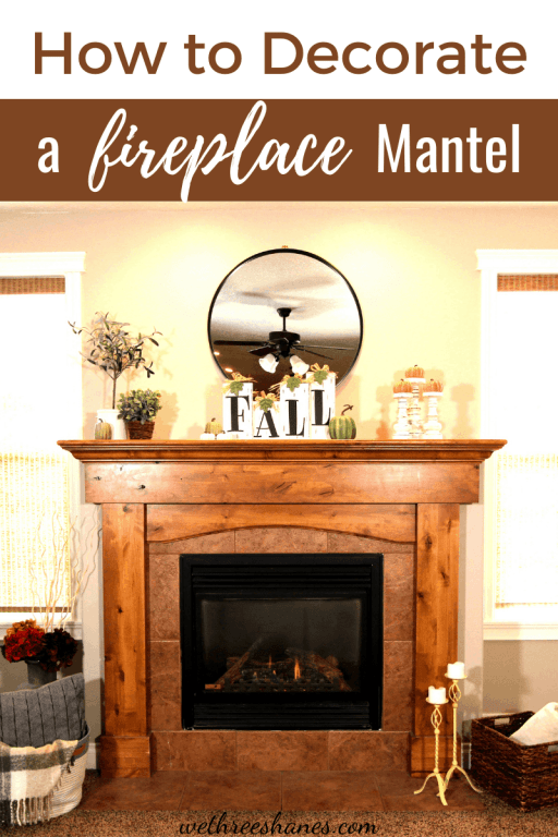 Want to have a fireplace mantel that looks beautiful? Learn these easy styling tips anyone can follow to decorate your mantel and give it a more professional look. | We Three Shanes