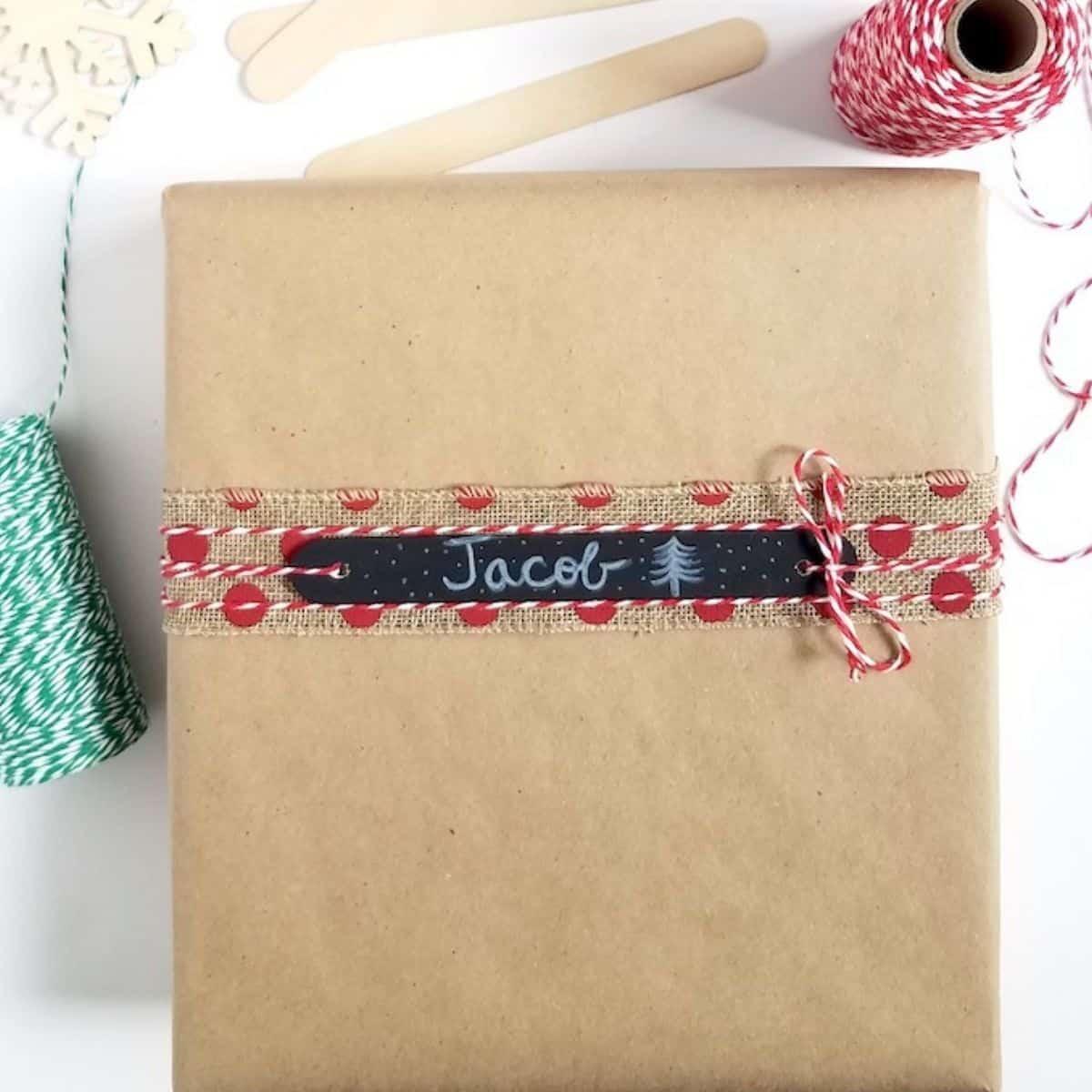 DIY  Reusable Craft Stick Gift Tags