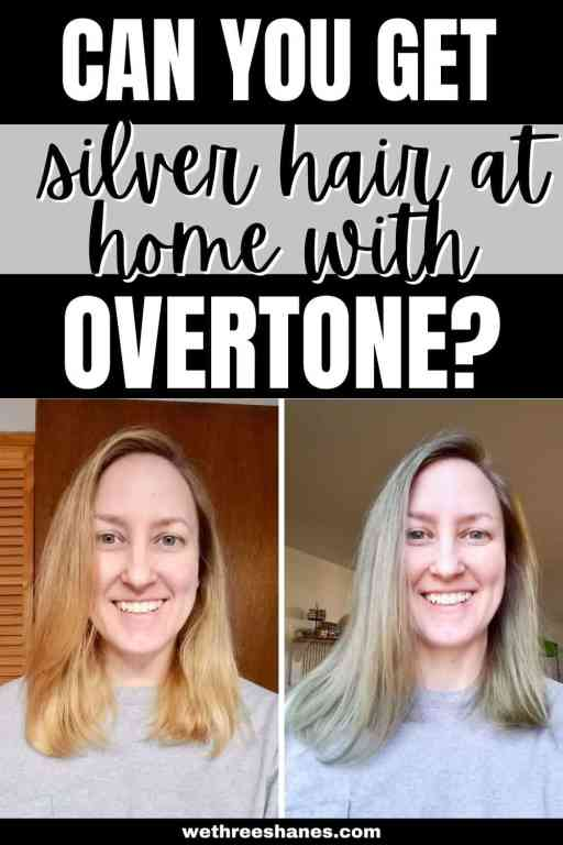 Before wasting your money on Overtone Vibrant Silver color conditioner you need to read this honest review to see if it will actually work on your hair. | We Three Shanes