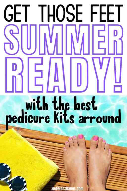 Grab the professional tools you need to get your feet summer ready now! Make pedicures at home a simple task with these MUST HAVE tools for silky smooth feet and perfect toes. | We Three Shanes