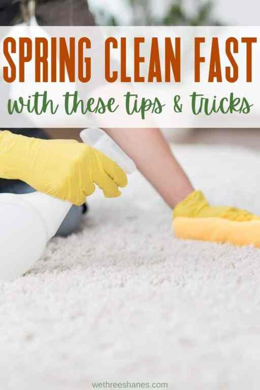Anyone can get some Spring Cleaning done if they know where to start. You can have a sparkling house in no time with this easy to follow guide. | We Three Shanes