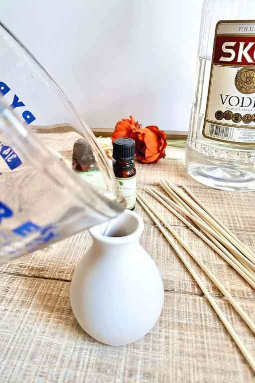 Use this step-by-step tutorial to learn how to make your own DIY Reed Diffuser. | We Three Shanes
