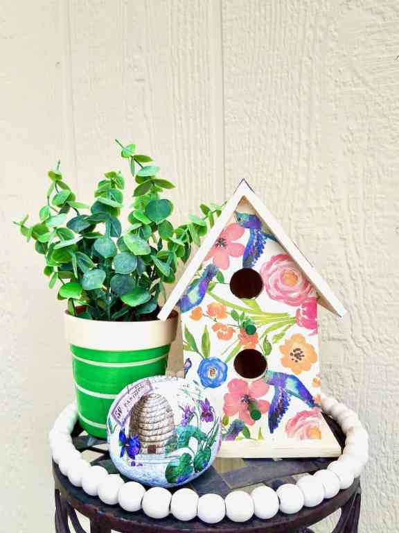 Learn how to decoupage with napkins. A Super easy and fun craft. | We Three Shanes