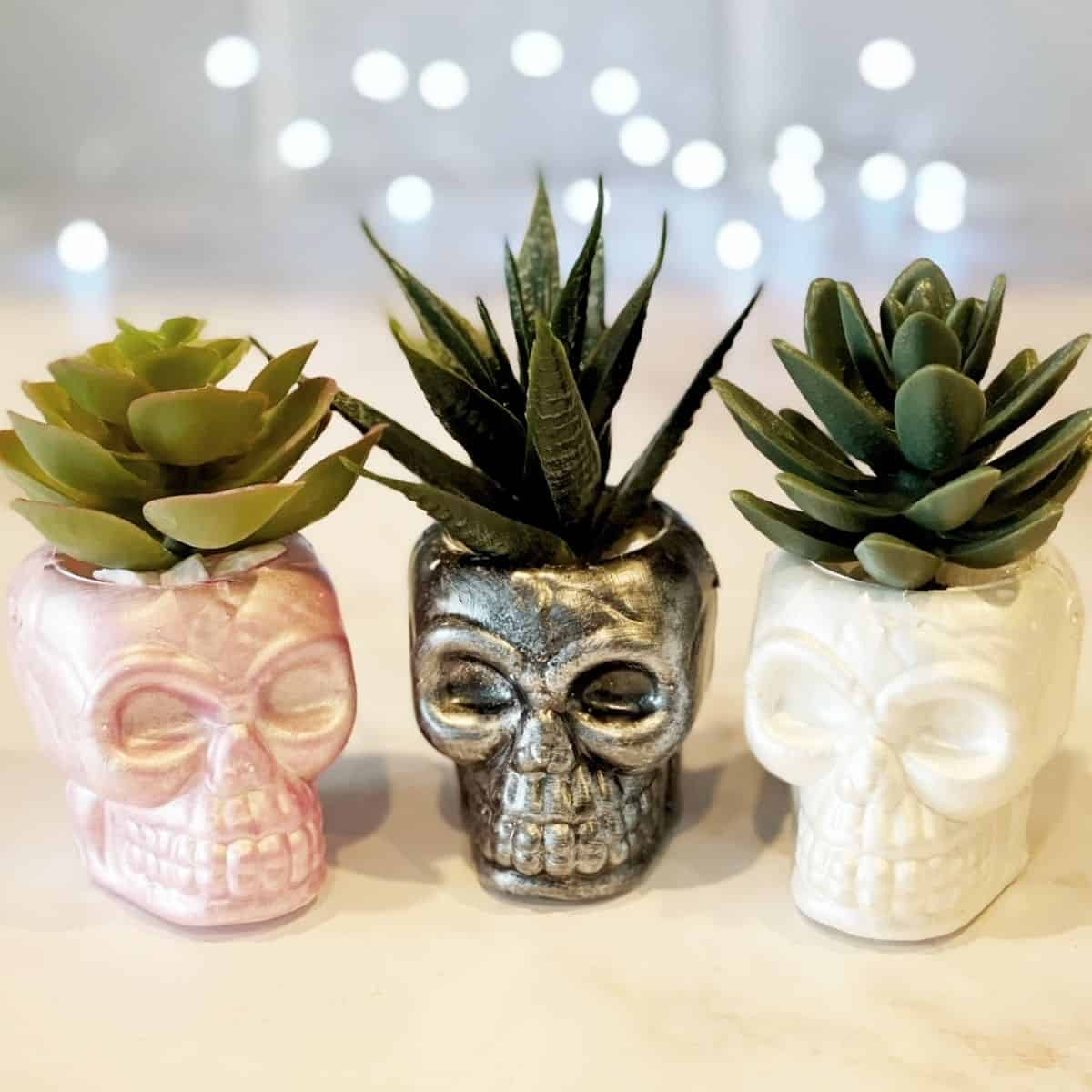 Thes 3 DIY Skull Crafts are perfect for getting yourself and home in the Halloween mood.