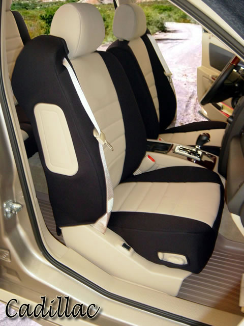 Cadillac SRX Pattern Seat Covers Rear Seats Wet Okole