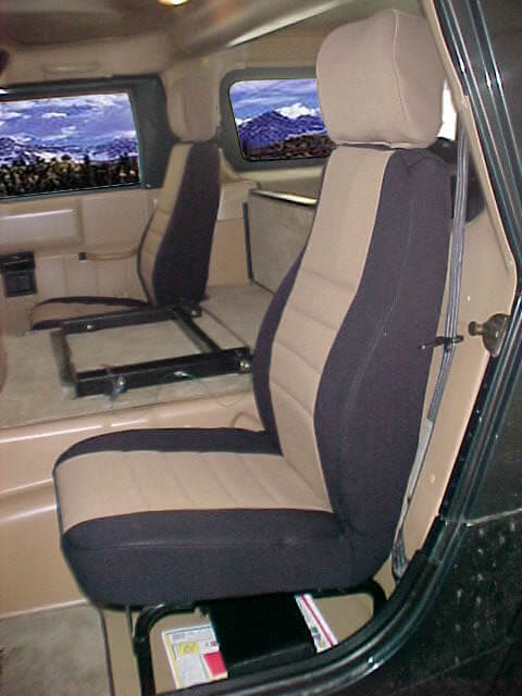 Hummer H1 Standard Color Seat Covers Rear Seats Wet