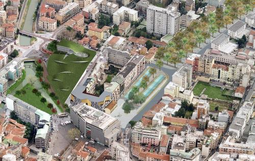 Progetto piazzale Cialdini del 2010