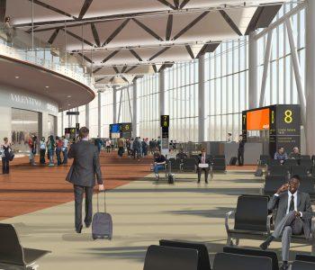 Rendering ampliamento area Schengen Aeroporto di Venezia