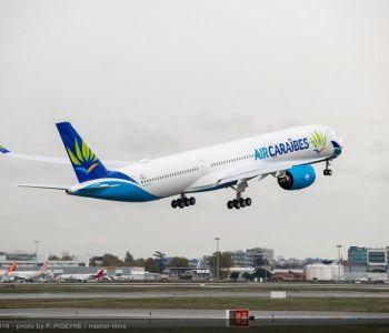Air Caraïbes A350-1000 takes off_