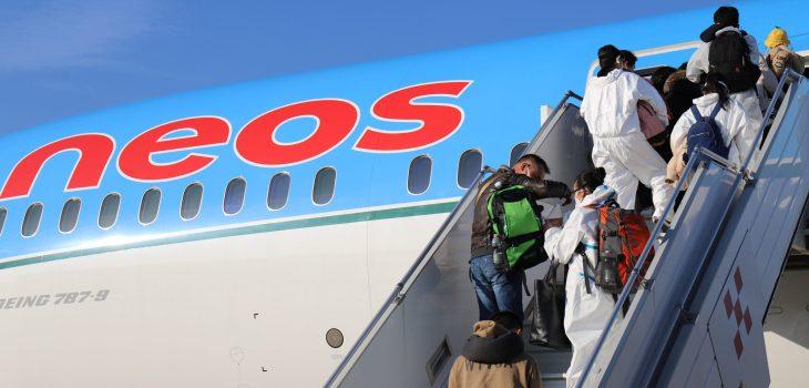 Neos primo volo covid free per Nanchino