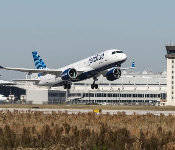 JetBlue Airbus A220-300 inaugural test flight