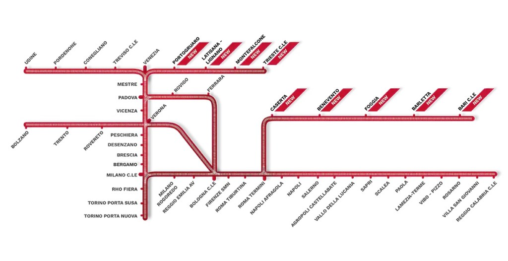Network Italo Treno estate 2021