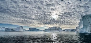 Dédale d'icebergs de la baie de Dove