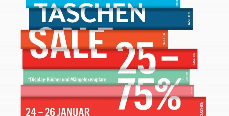 TASCHEN – Sale vom 24. bis 26. Januar 2019 in Köln, Berlin und Hamburg +++Gewinnspiel+++