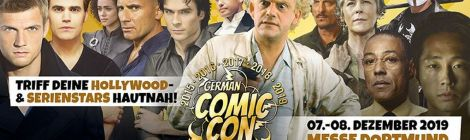 German Comic Con Dortmund vom 07. – 08. Dezember 2019 in der Messe Dortmund