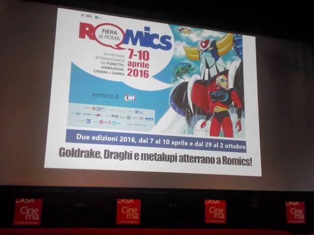 La locandina del Romics presentata in sala stampa