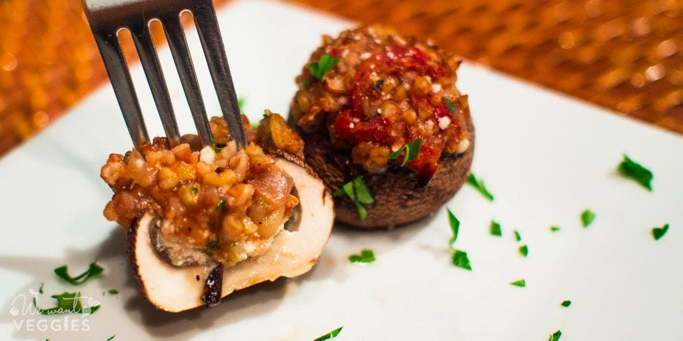 Stuffed Mushrooms With Freekeh