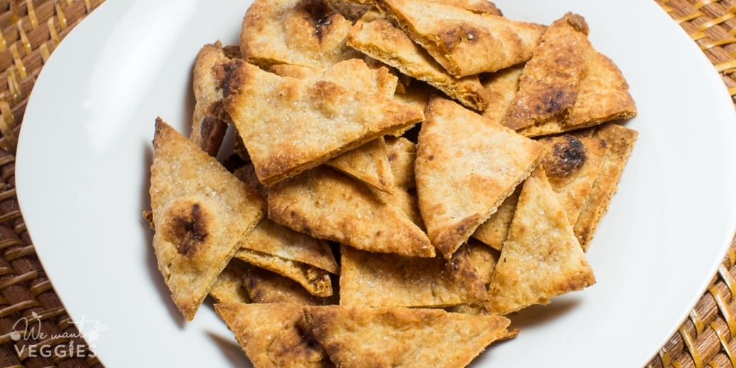 Baked Naan Chips