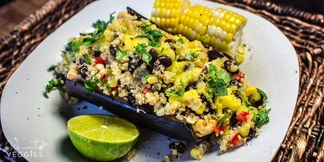 Quinoa Stuffed Plantains