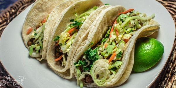 Lentil Tacos With Shredded Cabbage