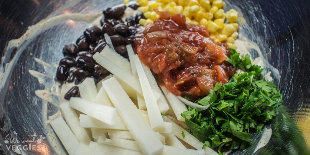Tex-Mex Jicama Wraps Ingredients