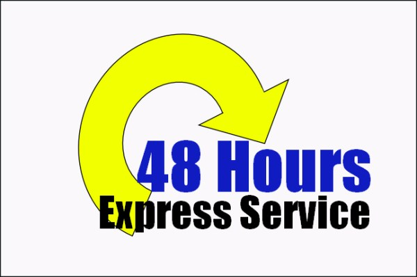 48 hour express service