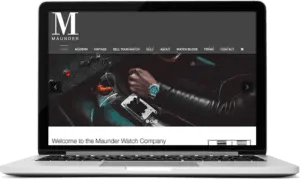 Website for Luxury Watch Company in Guildford