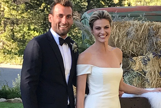 Erin Andrews Wedding.Erin Andrews Ex Nhl Player Jarret Stoll Marry In Montana