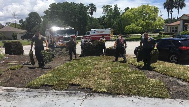 After man has heart attack laying sod, Pasco County