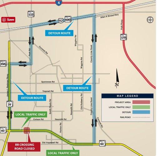Plant City road closure