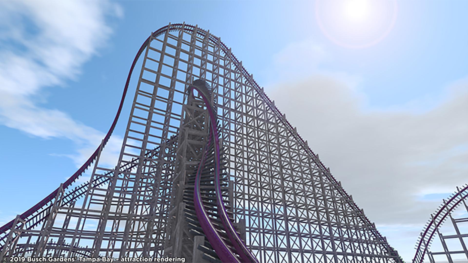 Updated Busch Gardens Coaster To Be Steepest Fastest Wooden Hybrid
