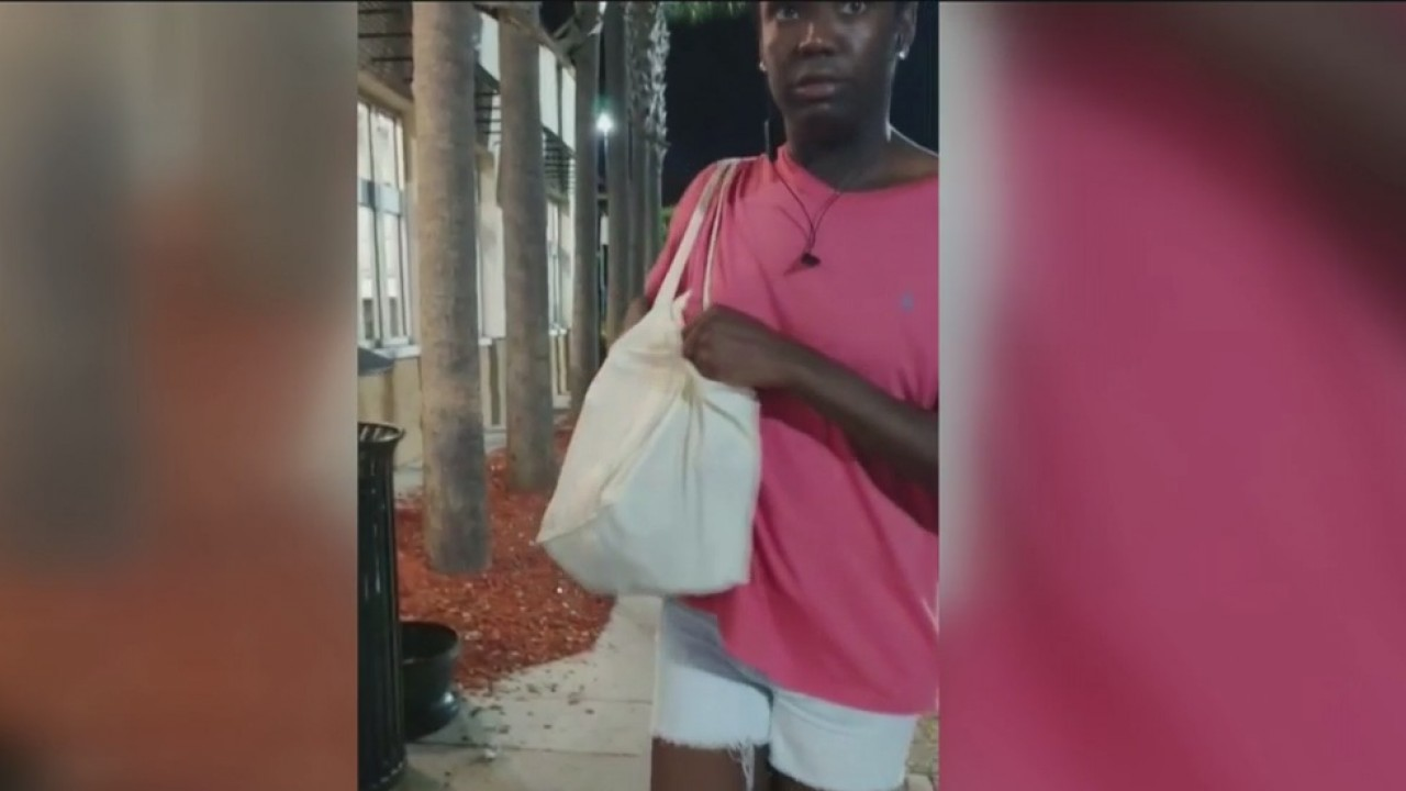 Fiancee films suspect accused of taking wallet at Walmart