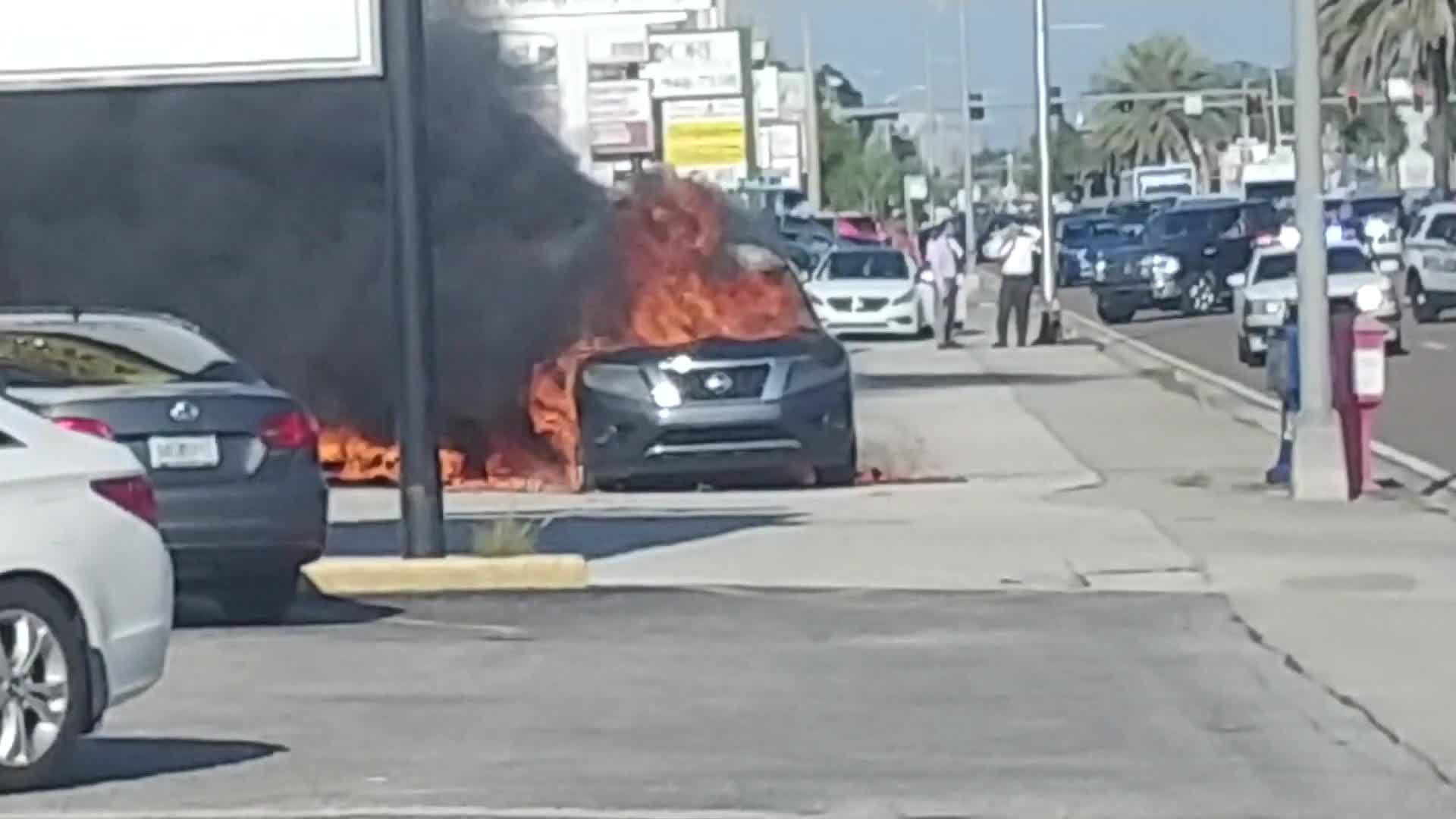 Fire sets off ammunition stored in undercover detective's car