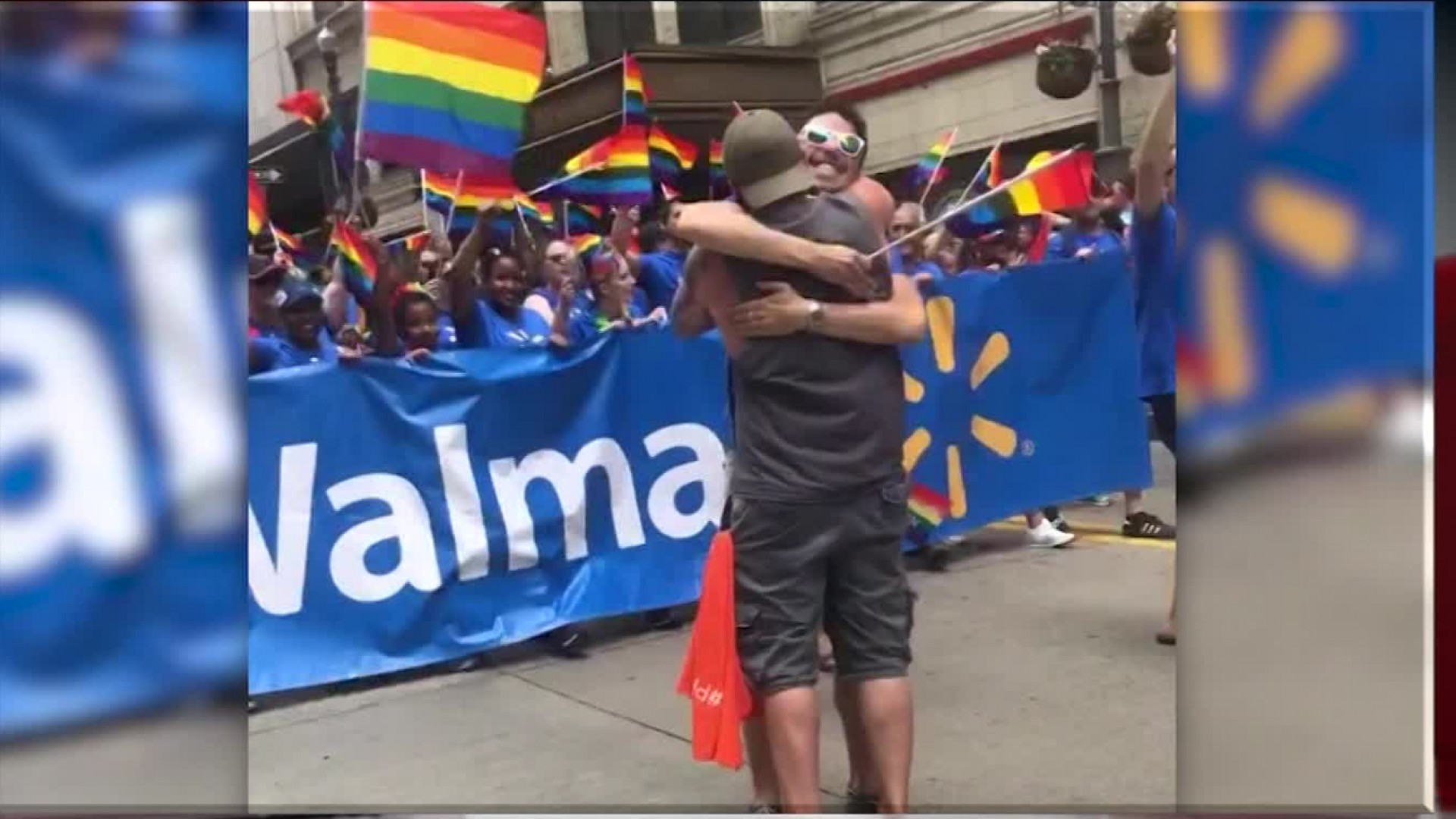 Man goes viral after giving hundreds of free 'Dad Hugs' at Pride parade