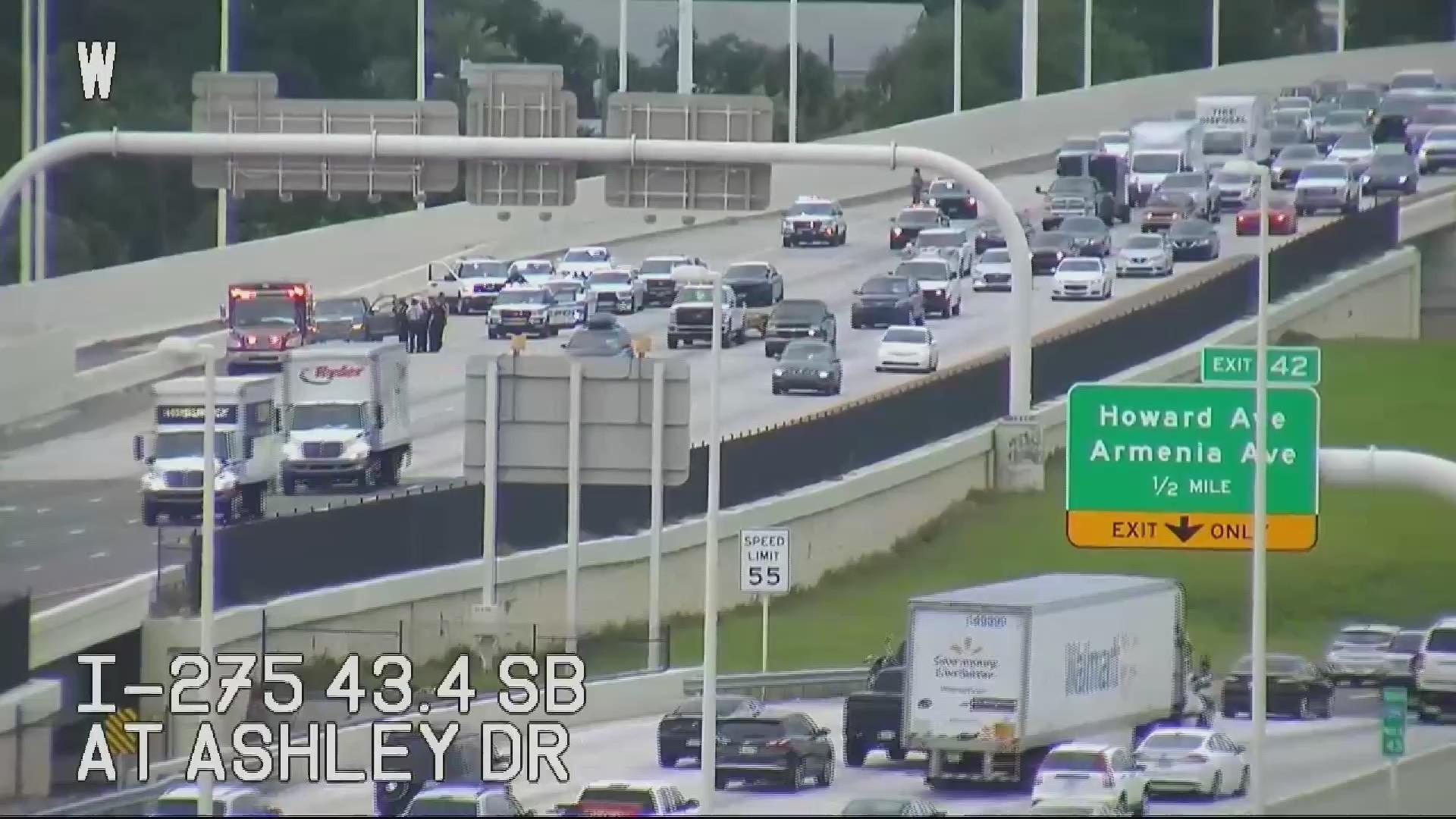 Traffic backed up on I-275