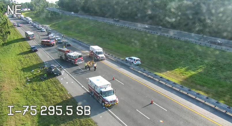 Serious crash snarls traffic on I-75 in Hernando County