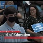 Student calling for school mask mandate heckled while speaking about dead grandmother 💥😭😭💥